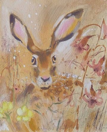 Andrew Waddington Original Watercolour Painting Of A Hare